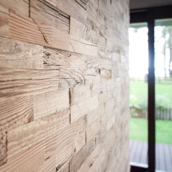 Oristano 3D Deep Reclaimed Real Wood Panel Wall Cladding