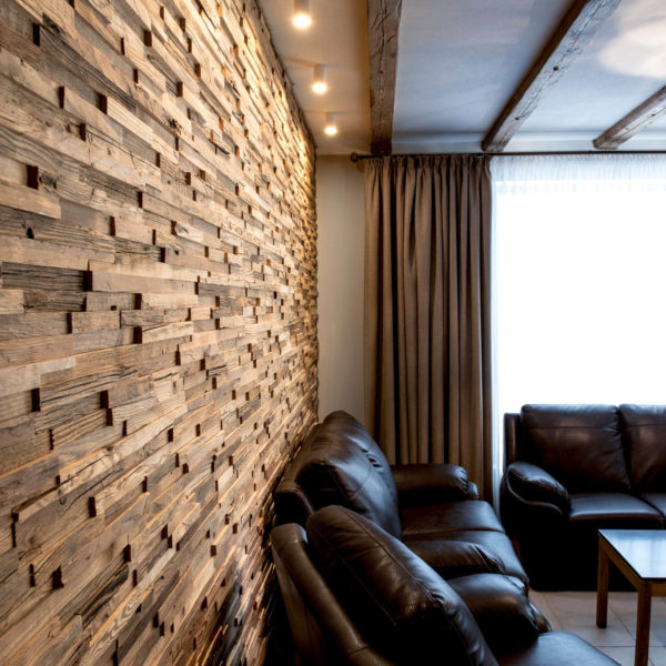 Palermo 3D Reclaimed Real Wood Panel Wall Cladding