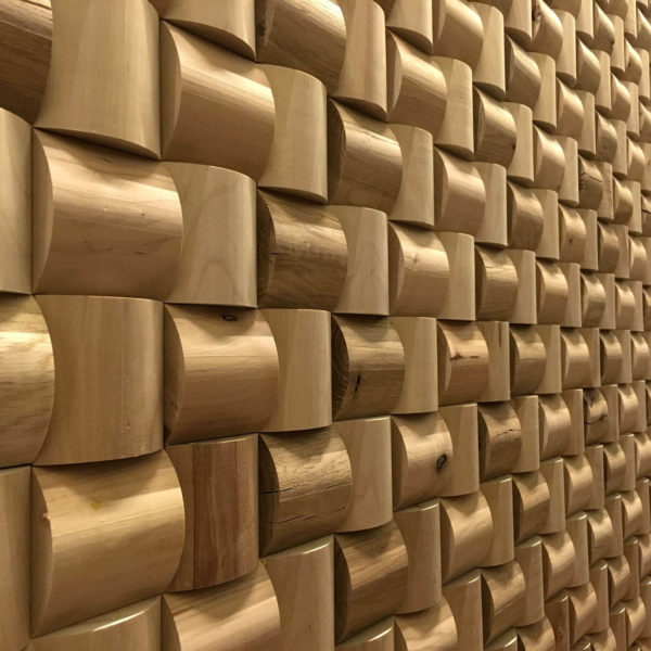 Semicircle 3D Deep Reclaimed Real Wood Panel Wall Cladding