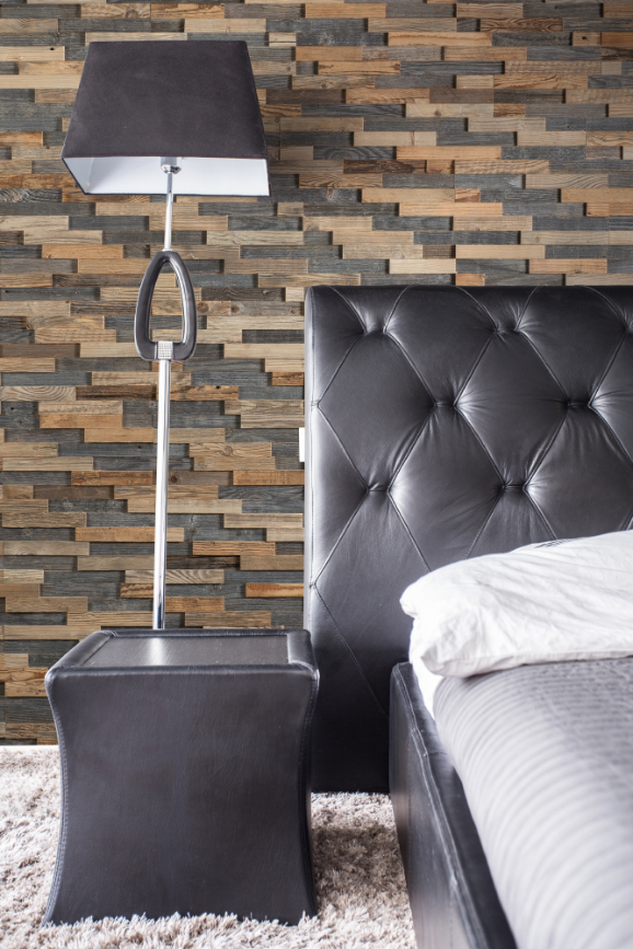 Bari 3D Deep Reclaimed Real Wood Panel Wall Cladding
