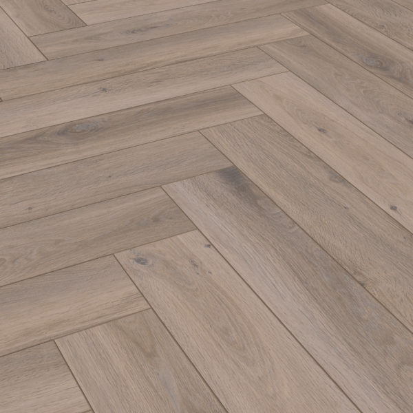 Dolcevita Herringbone 8mm Frozen Oak 4V Laminate Flooring