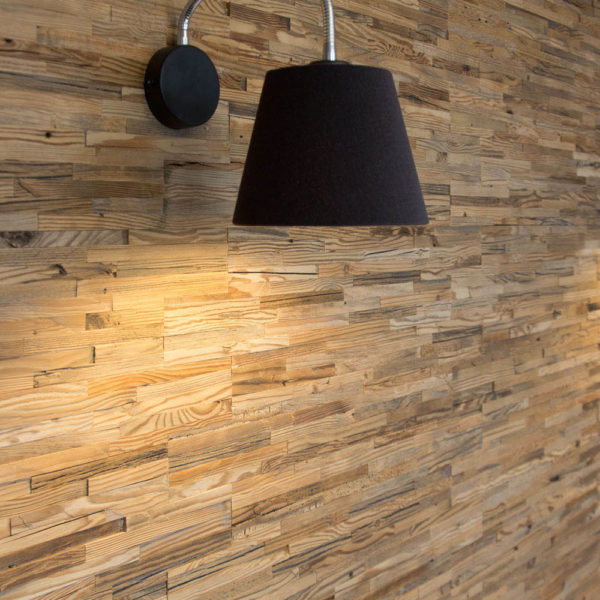 Bologna 3D Reclaimed Real Wood Panel Wall Cladding