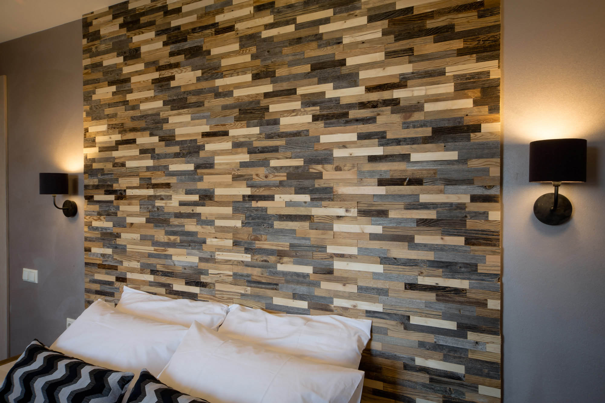 Enna 3D Deep Reclaimed Real Wood Panel Wall Cladding