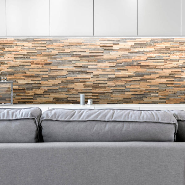Siena 3D Reclaimed Real Wood Panel Wall Cladding