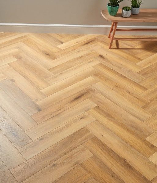 Dolcevita Herringbone 8mm Natural Oak 4V Laminate Flooring