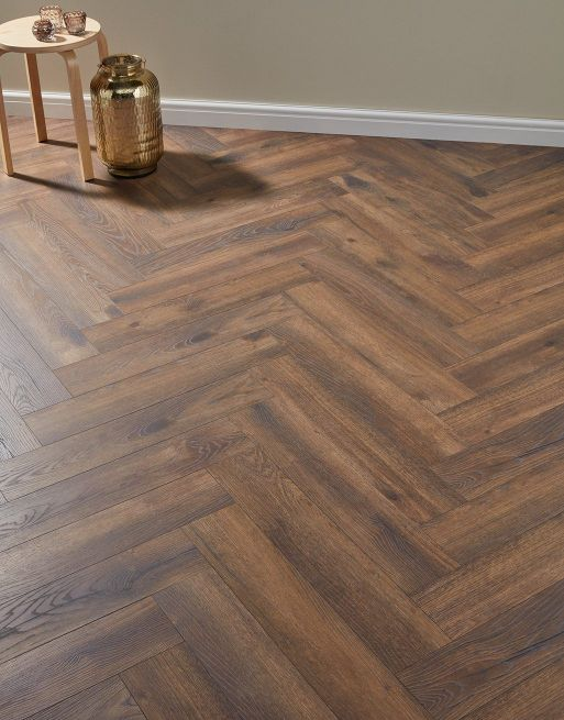 Dolcevita Herringbone 8mm Espresso Oak 4V Laminate Flooring