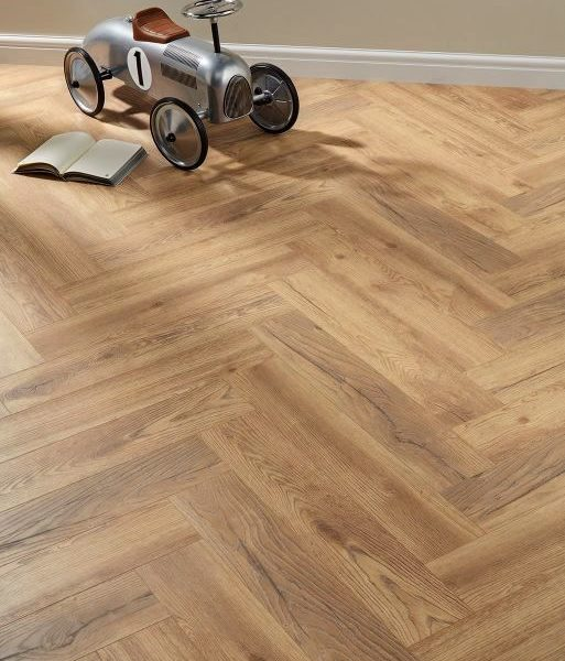 Dolcevita Herringbone 8mm Ranch Oak 4V Laminate Flooring