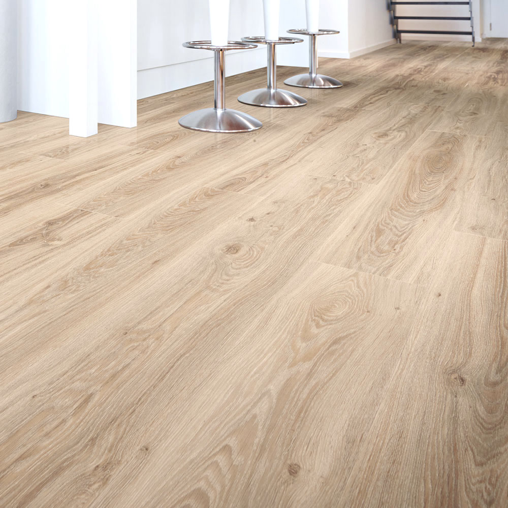 Home 4mm Pale Light Oak Effect LVT Luxury Vinyl Click Flooring