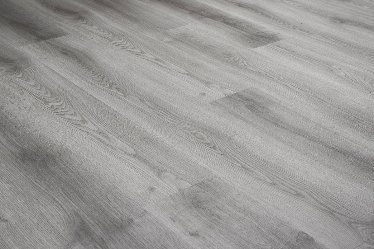 Home 4mm Silver Oak Effect LVT Luxury Vinyl Click Flooring