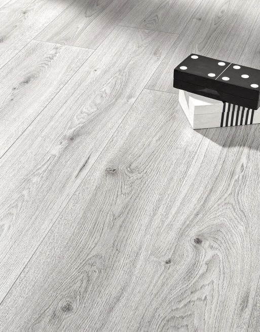 Home 4mm Light Grey Oak Effect LVT Luxury Vinyl Click Flooring