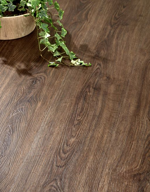 Home 4mm Mountain Brown Oak Effect LVT Luxury Vinyl Click Flooring